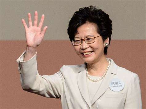 carrie lam beijings favored candidate elected  lead