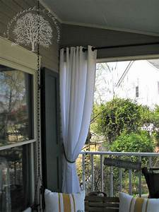 Porch curtains patio the oaks and balconies for Outdoor balcony curtains