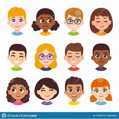 Avatar Cartoon Children Avatars Clipart Simple Blonde