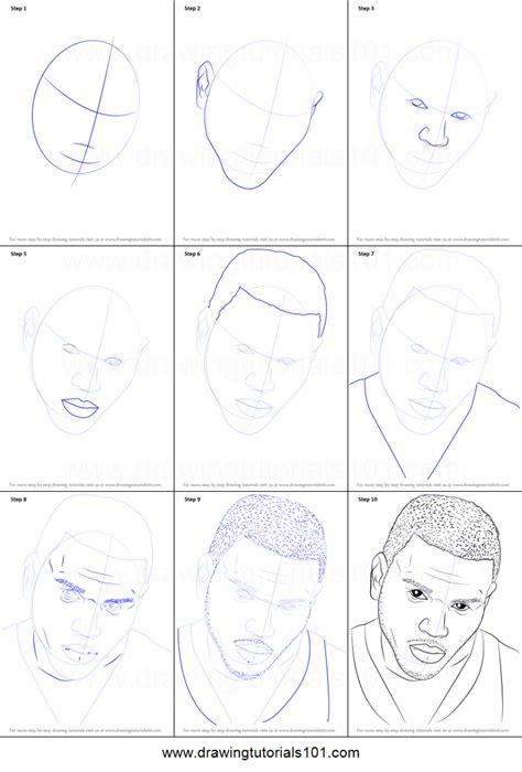 draw chris brown printable step  step drawing
