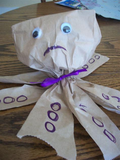 paper bag craft sam  sad sad octopus woo jr