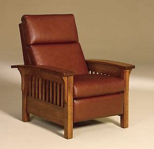 amish mission stickley arts crafts recliner chair