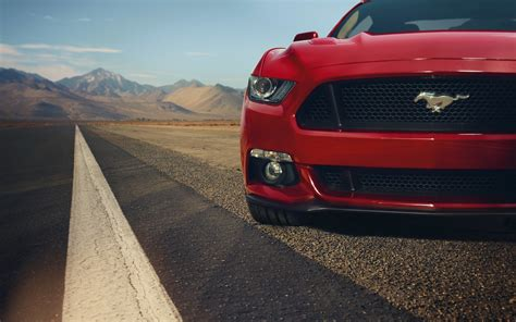 Ford Mustang Gt Red Front Muscle Car Before 4k Ultra Hd