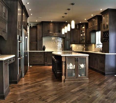 chocolate kitchen cabinets kitchen cabinets herringbone floor for the home 2185