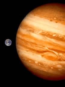 comparison  jupiter   earth size orbit