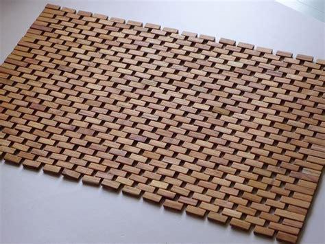 tappeto di legno tappeti in legno accessori casa come si realizzano