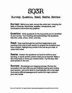 free sq3r handout and worksheet study skills pinterest With sq3r template