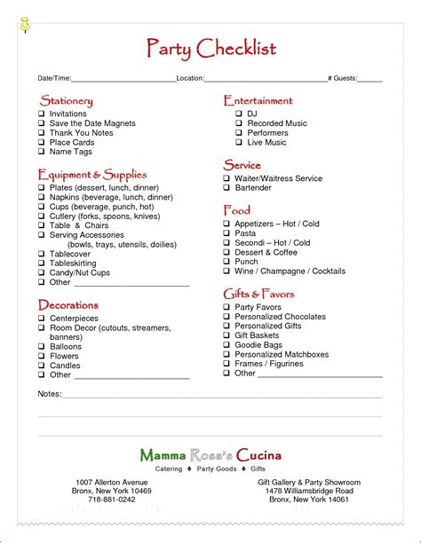 party planning template bookletemplateorg