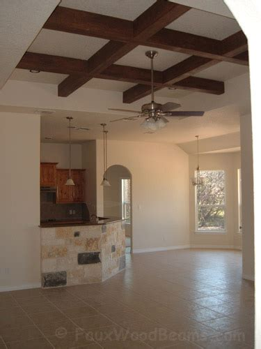 Coffered Ceiling  Faux Wood Workshop