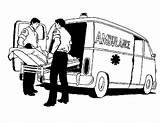 Ambulance Coloring Colouring Truck Monster Cartoon Patient Printable Siren sketch template