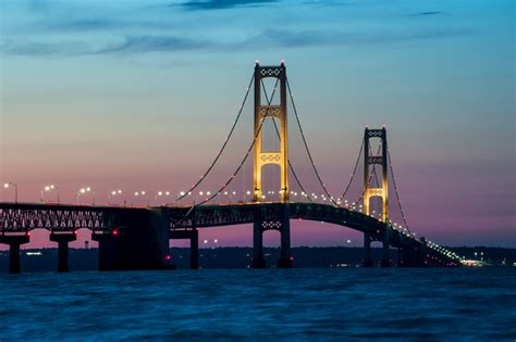 michigan nut photography michigan bridges sunset mackinac bridge