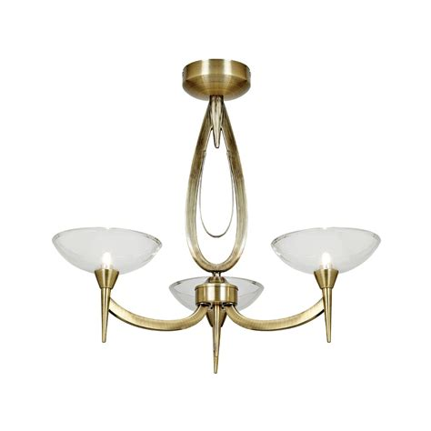 Hunza Lighting by Endon Lighting Harrison Harrison 3ab Antique Brass Semi