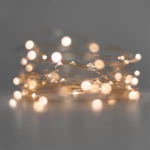 battery fairy lights ultra fine wire warm white
