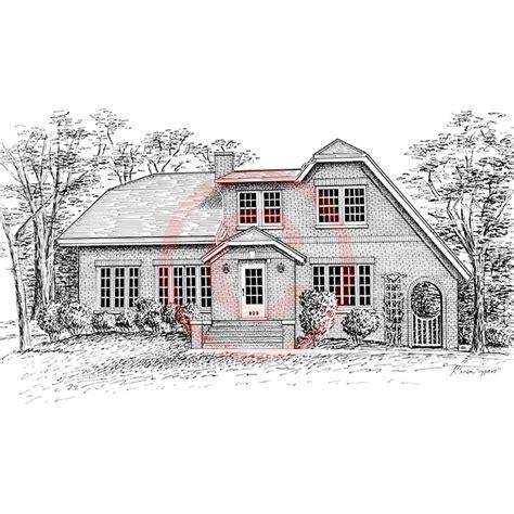 house drawings pen and ink artist kelli swan custom portraits of houses