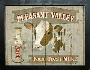 Primitive Diner French Country Farm Home Decor Dairy Cow