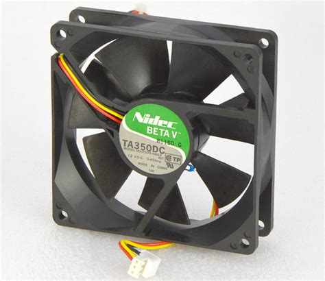 nidec ta350dc fan 12 volt 0 4a 92x92x25 mm fan cooler nidec beta v ta350dc