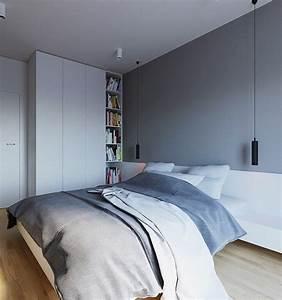 Peinture Blanc Gris : couleur de peinture pour chambre tendance en 18 photos ~ Nature-et-papiers.com Idées de Décoration