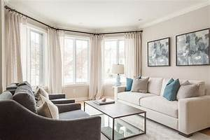 Decorating, Ideas, For, Living, Room, With, Cream, Sofa