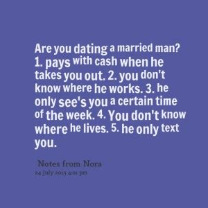woman dating married man quotes