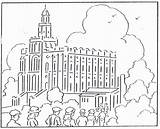 Coloring Temple Lds George Mormon Printable Temples Building Clipart August Getcolorings Popular sketch template