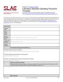 standard operating procedures template best business template
