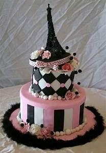 Eiffel Towers Birthday Cake Designs
