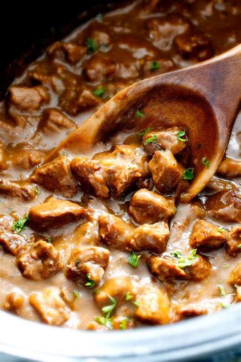 crockpot beef tips gravy  cream soup