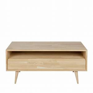 Meuble Tv En Chene : meuble tv design ch ne massif tygo drawer ~ Teatrodelosmanantiales.com Idées de Décoration