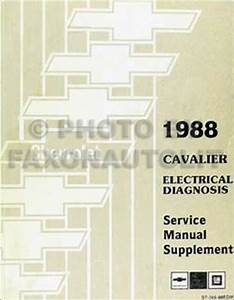 1988 Chevy Cavalier Electrical Manual Wiring Diagram 88