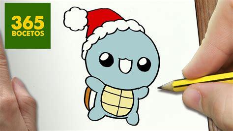 como dibujar un squirtle para navidad paso a paso dibujos kawaii navide 241 os how to draw a