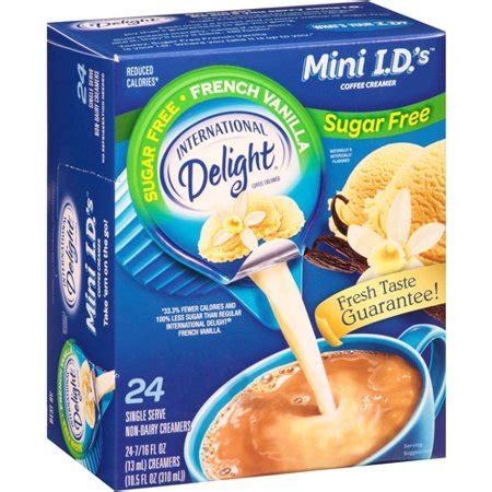Most of these offerings are dairy free. International Delight Sugar Free French Vanilla Mini I.D.'s Coffee Creamer, 0.4375 fl oz, 24 ...