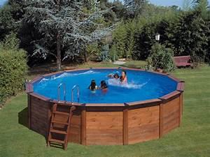 Piscine Bois Ronde : piscine habillage bois en kit ronde natur pool x 120 m 19420 ~ Farleysfitness.com Idées de Décoration