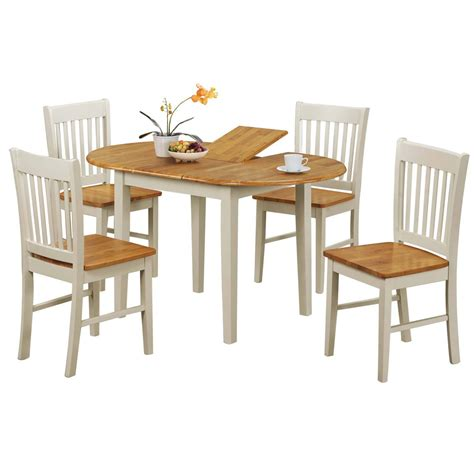 kentucky extending dining table and four chairs set