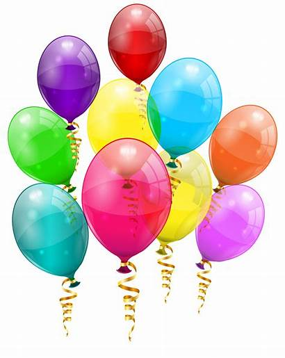 Balloons Bunch Clipart Colorful Geburtstag Birthday Transparent