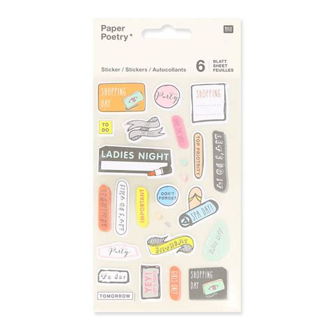 sticker bureau assortment of 200 stickers of bureau paper poetry magical