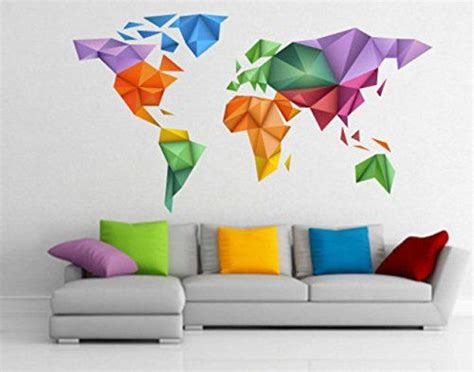 Japanballons Le Farbe Origami by Origami Colors World Map Sticker Origami Decals