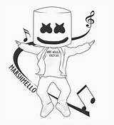 Dj Coloring Marshmello Marshmallow Epic Cool Template Sketch Marshmellomusic sketch template