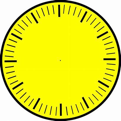 Clock Hands Face Minute Hour Yellow Marks