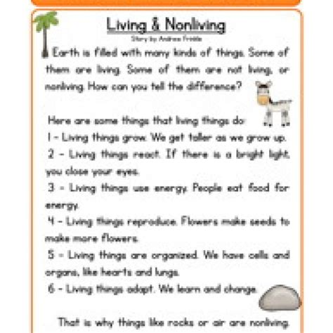 all worksheets 187 living and nonliving things worksheets