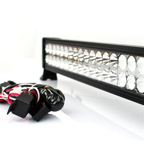 24 quot inch led light bar 120w 12v 24v road 4wd truck cing