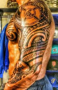 Firefighter Maltese Tribal Tattoo (sleeve and chest ...