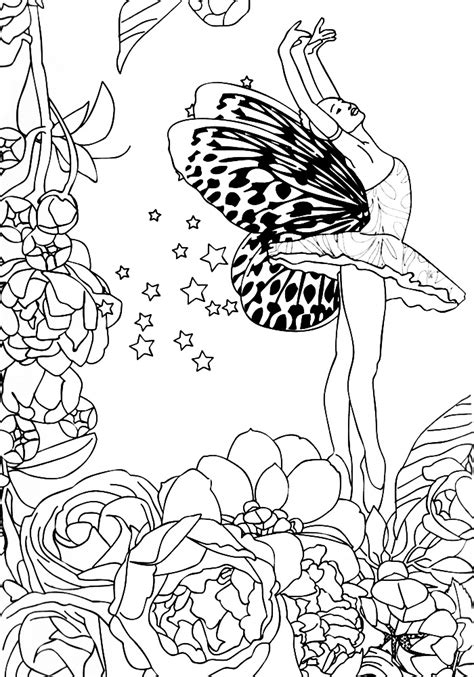 anti stress coloring pages  girls    print
