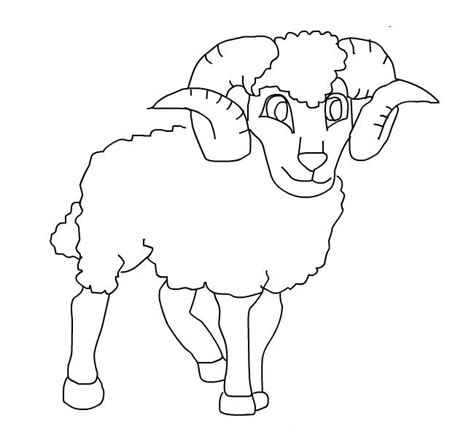 ram coloring pages    print