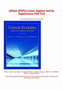 Linear Algebra And Its Applications David C Lay Solutions