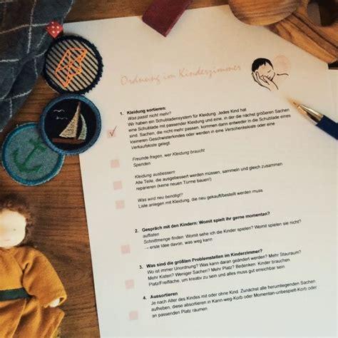 Kinderzimmer Aufräumen Checkliste by Mehr Ordnung Zu Hause Und Im Kinderzimmer Checkliste Zum