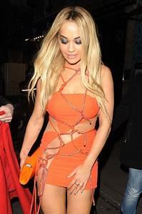 Rita Ora Hot In Mini Dress Versace Spring Summer 2016