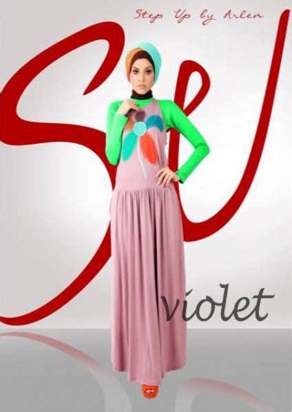 gamis rabbani collection su yunia violet baju muslim gamis modern