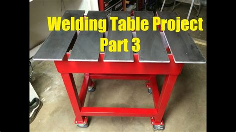 welding table build project part    youtube