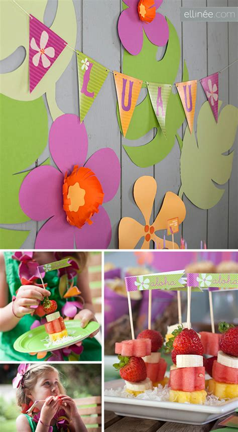 diy luau party decorations great luau themed party ideas