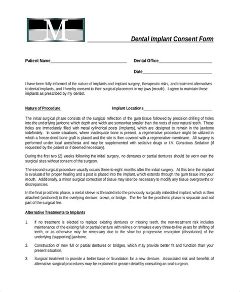 sle dental consent forms 10 free documents in pdf